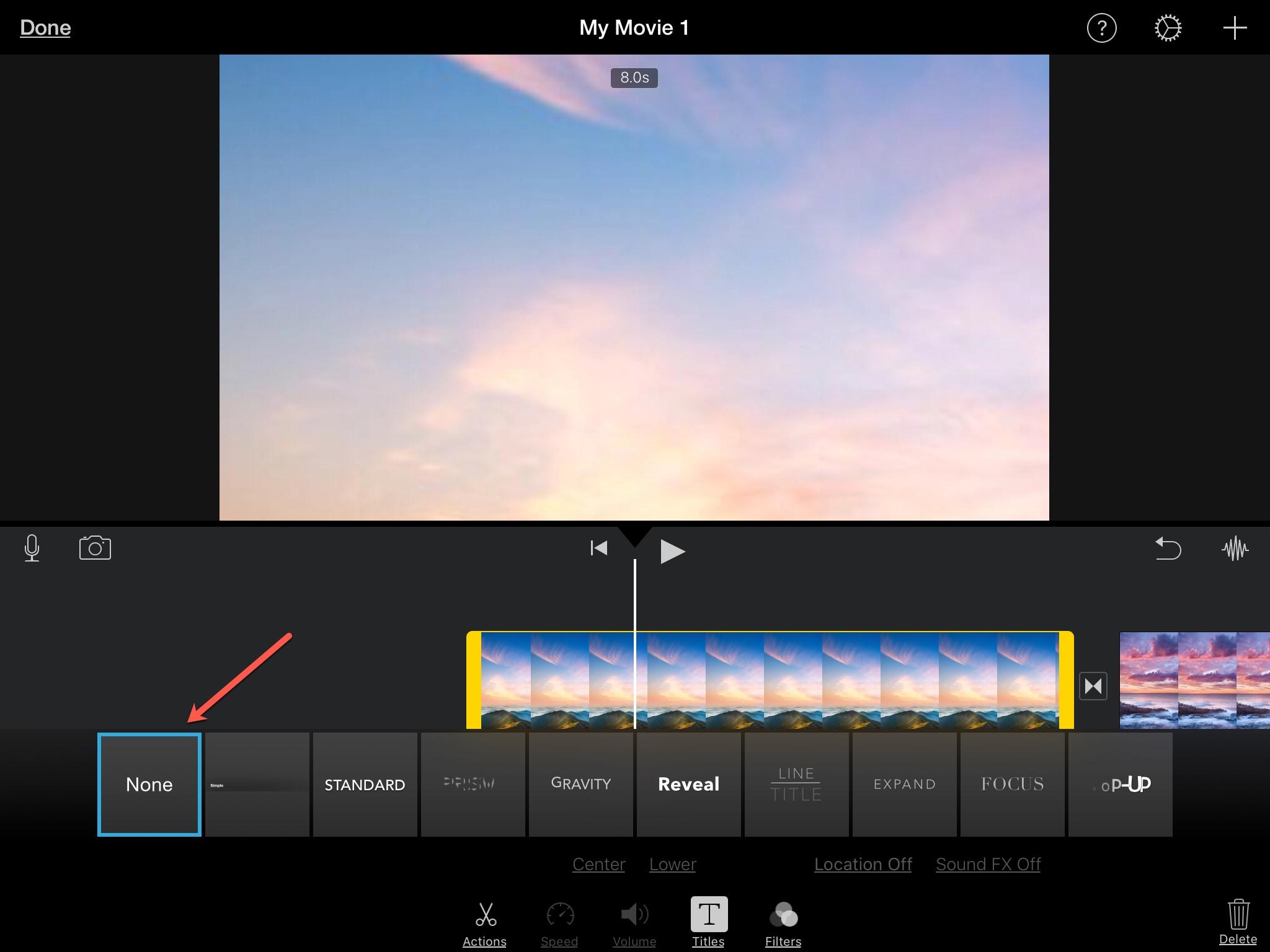 İPad iMovie Başlığını Sil