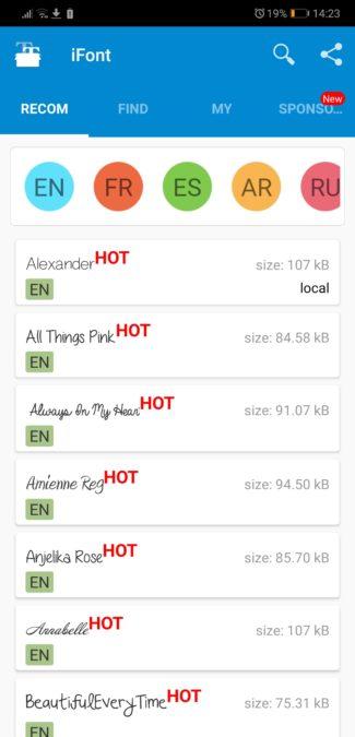 iFont para Android