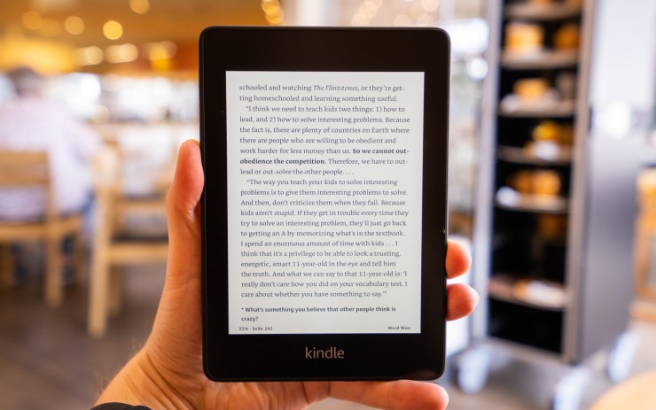 Amazon Kindle  Kertas putih