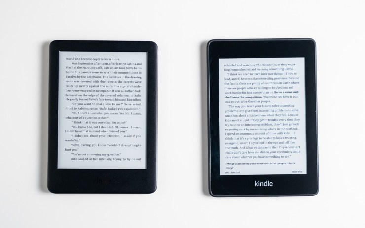 Amazon Kindle  vs Tampilan Paperwhite