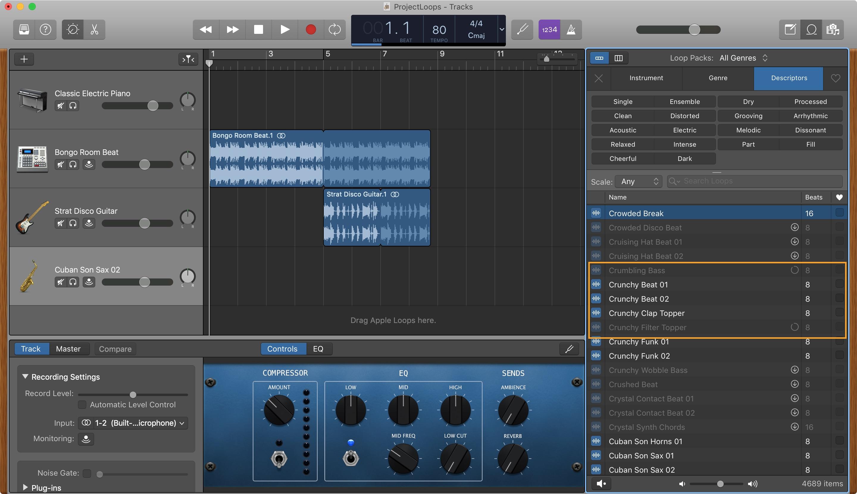 GarageBand yükləyin Apple Mac döngələri