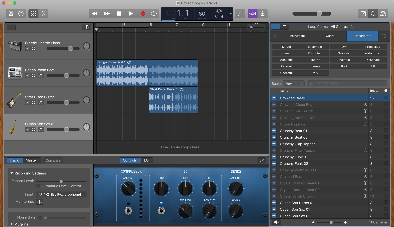 GarageBand başqalarını əlavə edin Apple Mac döngələri