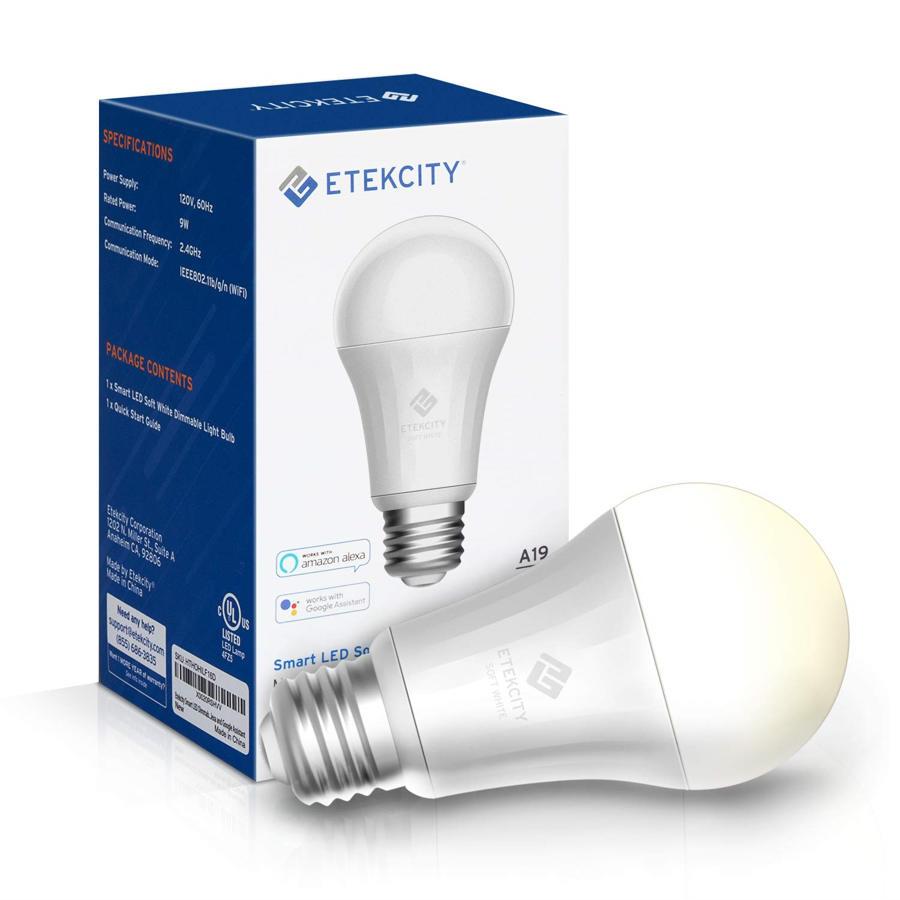 Etekcity Smart Plug və Smart LED lampa - hər ikisinə uyğundur Amazon Alexa və Google Home 1