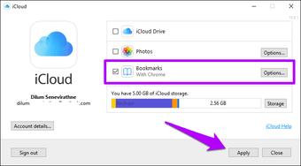 Importar Chrome Marcadores para Safari 3