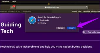 Importar Chrome Marcadores para Safari 7