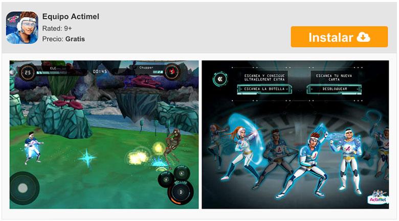 El equipo Actimel, batallas interactivas en tu iPhone y iPad 7