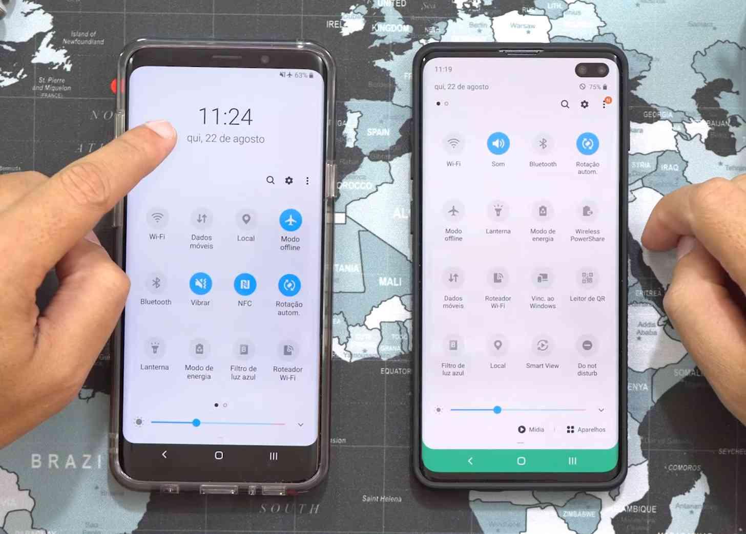 Configuración rápida de la interfaz de usuario de Samsung One 2.0