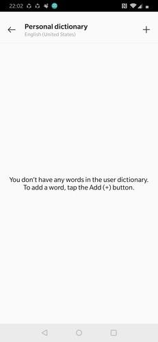 Gboard Agregar palabras al diccionario