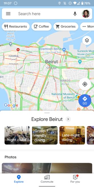 (Yeniləmə: yeni bir görünüşlə dirilir) Google Xəritələr kateqoriya axtarışında üzən fırlanma çubuğunu sınayır 4