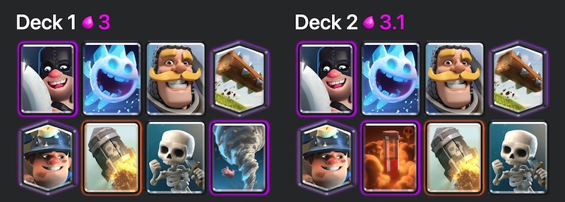 Hammers, rockets and double miners spells
