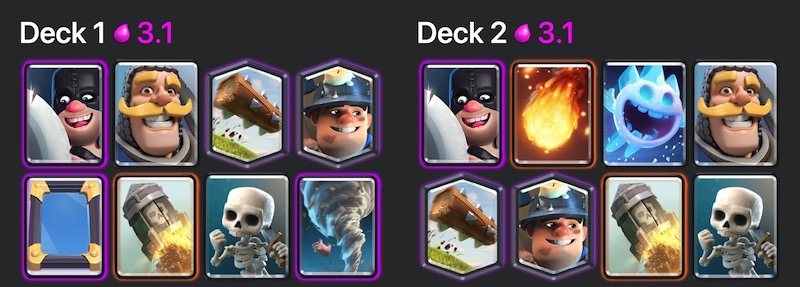 Deck with mirrors, miners, rockets and many other bikes.