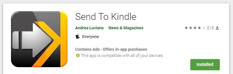 Web pre Android pre Kindle Poslať na Kindle Obchod Play
