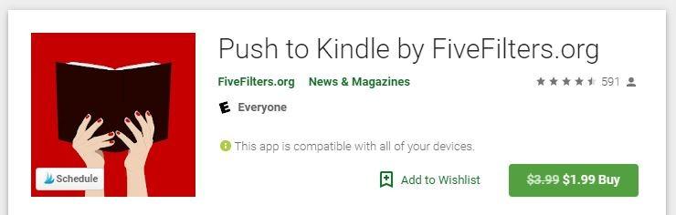 Web pre Android pre Kindle Stlačením tlačidla Kindle Obchod Play
