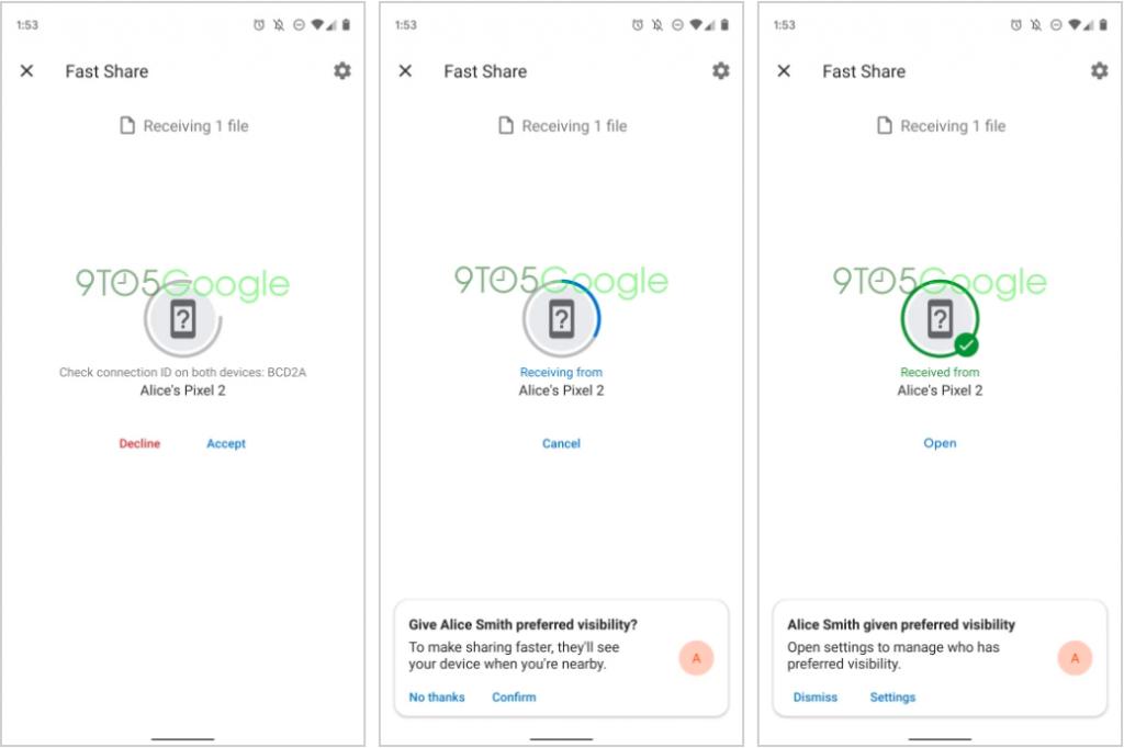 """Sürətli paylaşma, cihazları arasında faylları ötürmək üçün Android Beam-ın varisinin adı olacaq 3""""sinif ="""" wp-image-101764"""