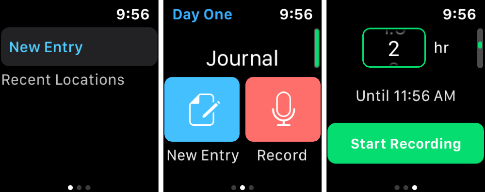 First Day Journal Apple Watch
