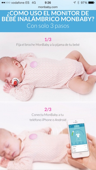 MonBaby, körpənizə iPhone ilə qayğı göstərmək üçün ağıllı bir broş 3