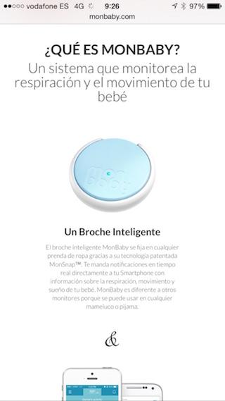 MonBaby, un broche inteligente para cuidar a tu bebé con tu iPhone 6