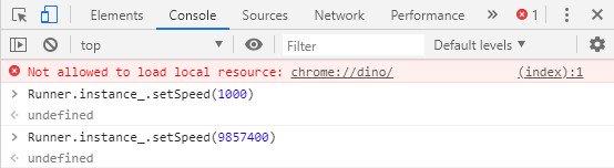 Oyun sürəti Chrome Dinozavr