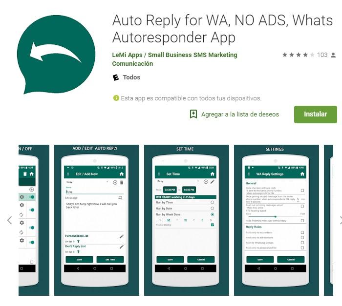 WA için otomatik yanıtlar