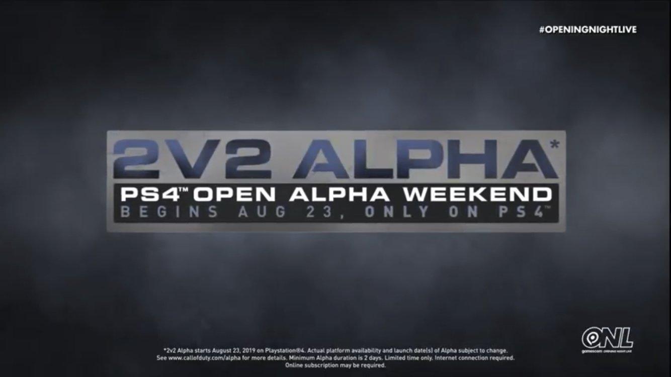 Call of Duty Modern Warfare 2019 PS4 buka alpha 2v2