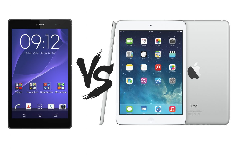 Sony Xperia Z3 Tablet Compact vs iPad Mini dengan Retina Display - perbandingan spesifikasi