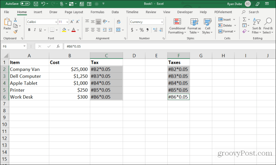 screenshot formula formula hüceyrəsi
