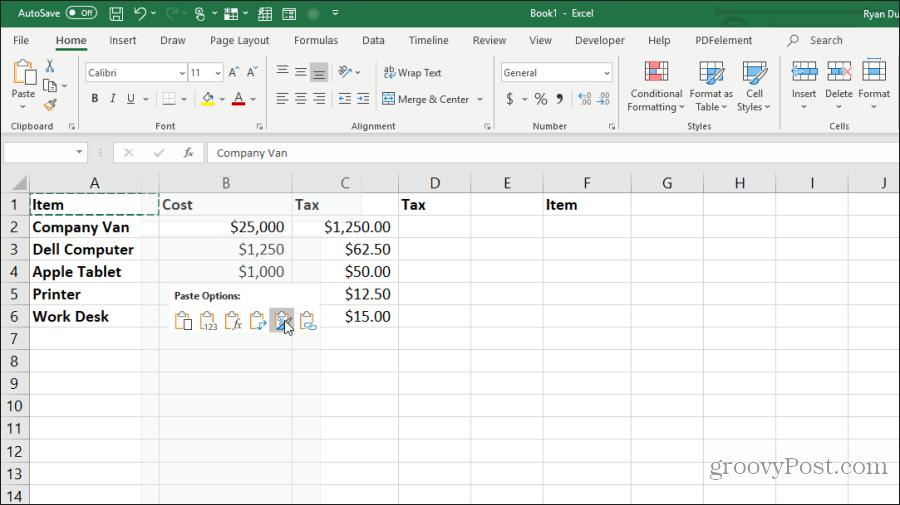 Excel formatında surəti