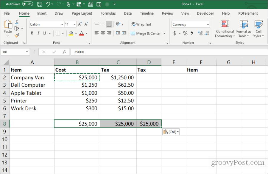 Excel-də bir çoxu üçün bir hücrə kopyalayın