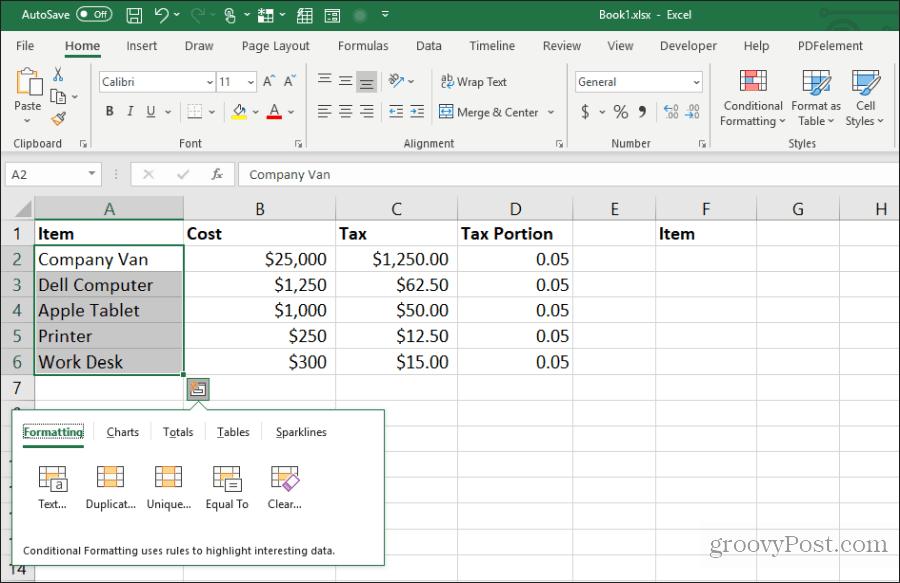 15 Microsoft Excel üçün tövsiyələri kopyalayın və yapışdırın 1