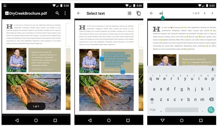 Gambar - 8 pembaca PDF untuk seluler