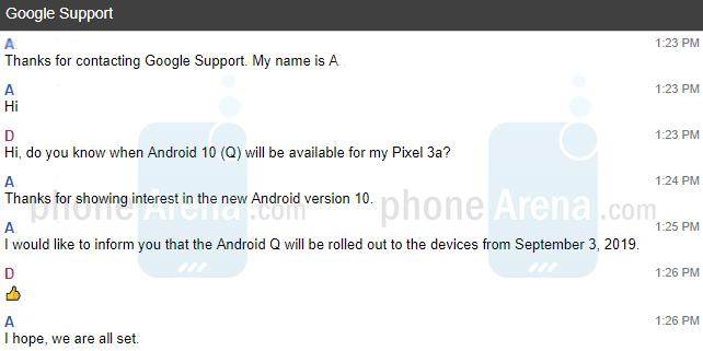 Tanggal peluncuran Android 10