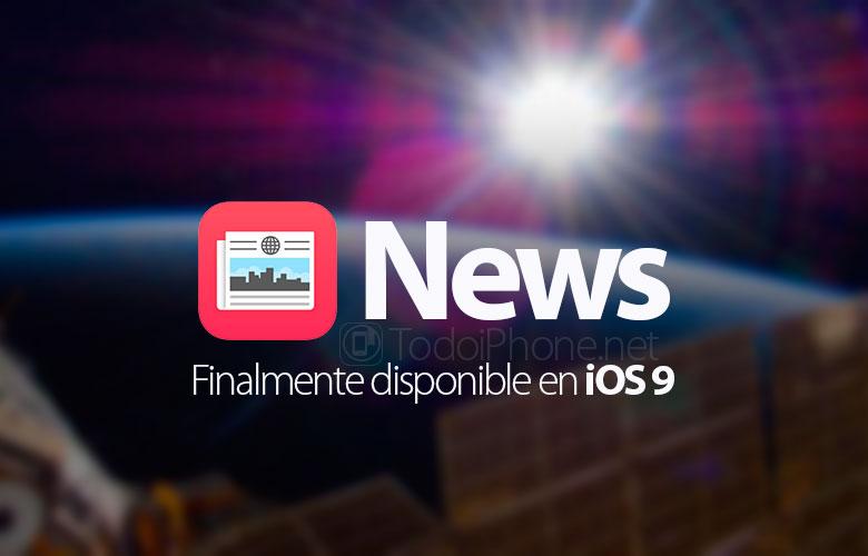 La aplicación Noticias ahora está disponible en iPhone y iPad con iOS 9 2
