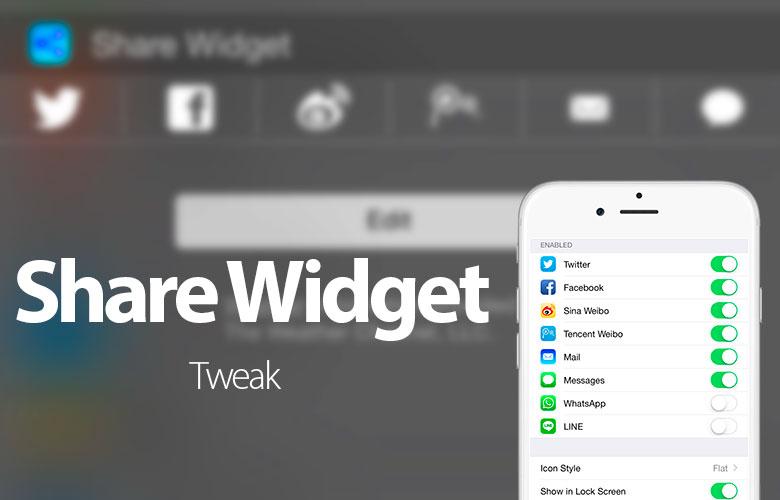 Compartir compartir widget Twitter, Facebook y otros, del Centro de notificaciones de iOS 8 2