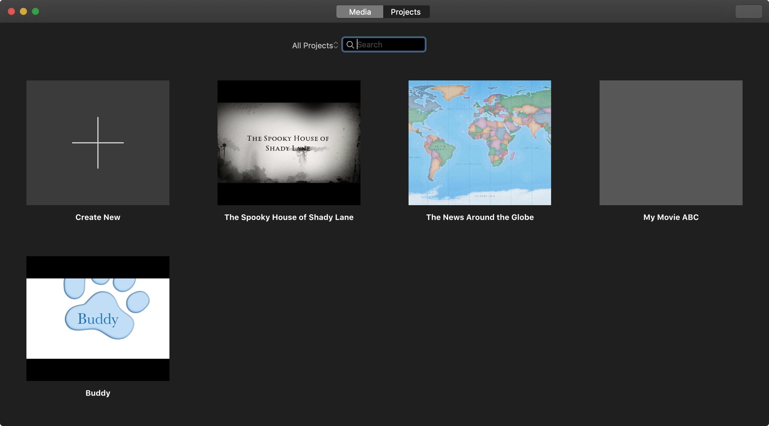 Mac iMovie layihələrini idarə edin
