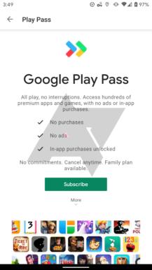 Eksklüziv: Google indi 'Play Pass' tətbiqetməsini və oyun abunə xidmətini sınaqdan keçirir 1