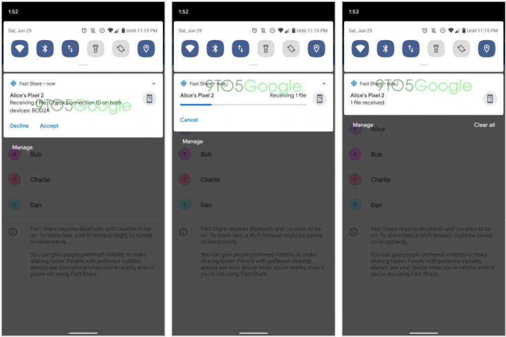 """Sürətli paylaşma, cihazları arasında faylları ötürmək üçün Android Beam-ın varisinin adı olacaq 2""""sinif ="""" wp-image-101763"""