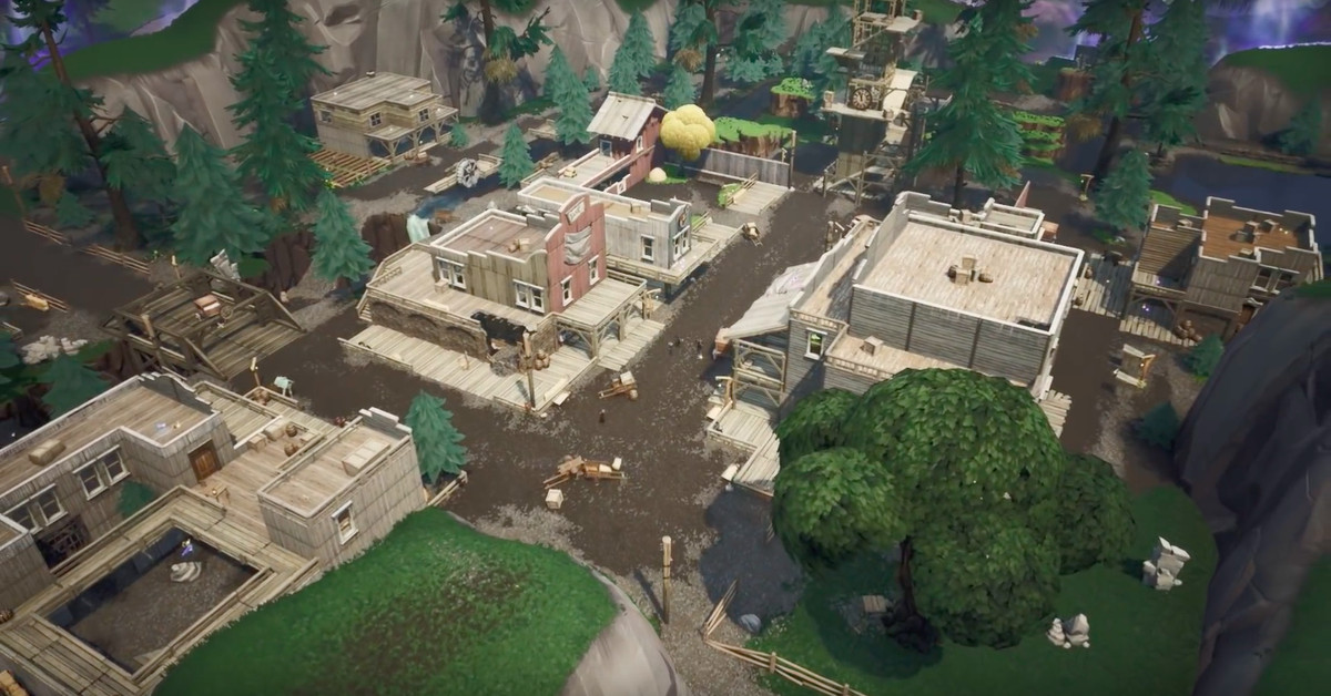 Fortnite: Како да се изгради во Tilted Town 2