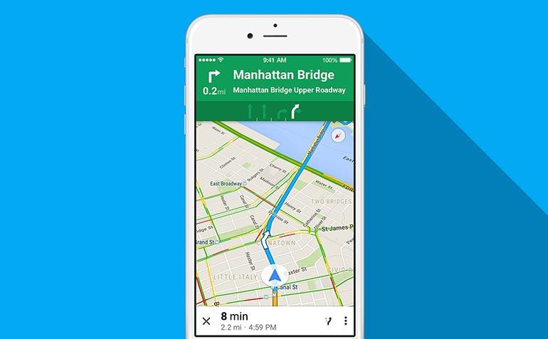 Google Xəritə indi yeni bir dizayna sahibdir və daha çox məlumat göstərir 2