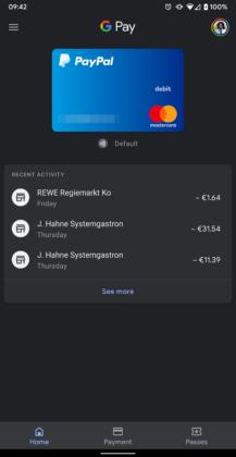Google Pay 2.96 lisää tumma tila 1
