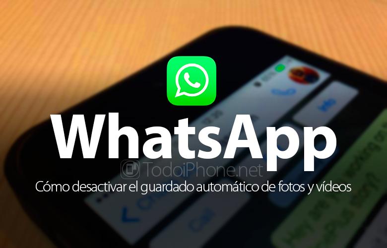 WhatsApp, foto, video və multimedia fayllarının avtomatik saxlanmasını deaktiv edin. 2