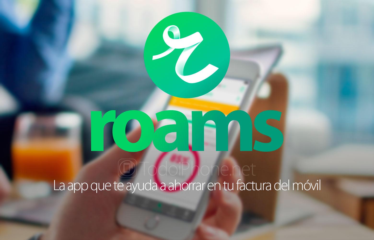 Roams, mobil ödəmələrə qənaət etmək üçün bir tətbiq 2