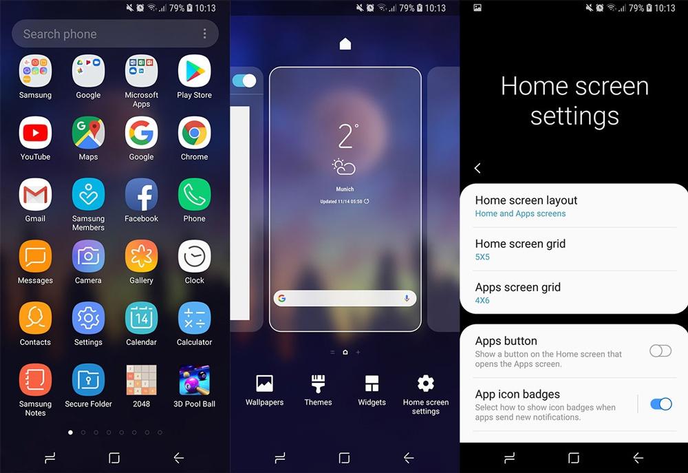 Интерфејс Samsung One UI Launcher