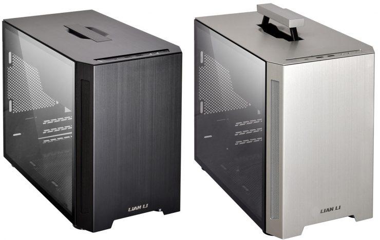 El chasis portátil Mini-ITX está hecho de aluminio y vidrio templado. 1