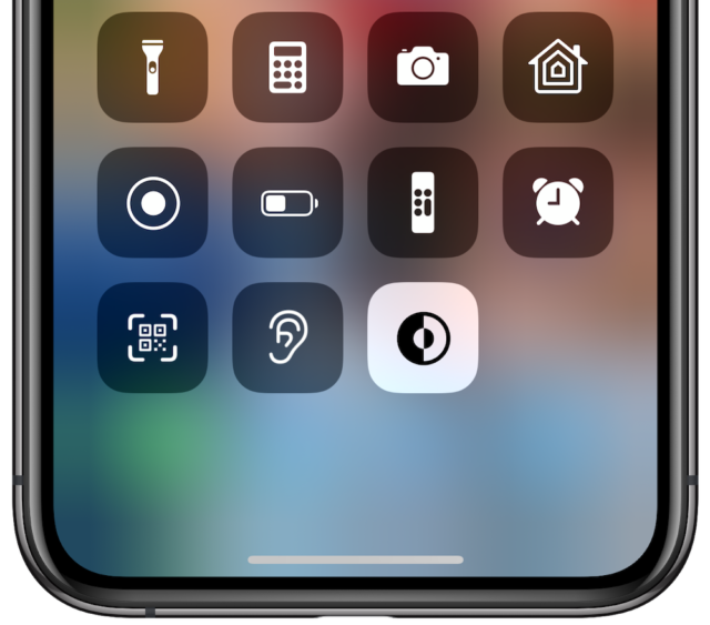 tombol mode gelap iOS 13