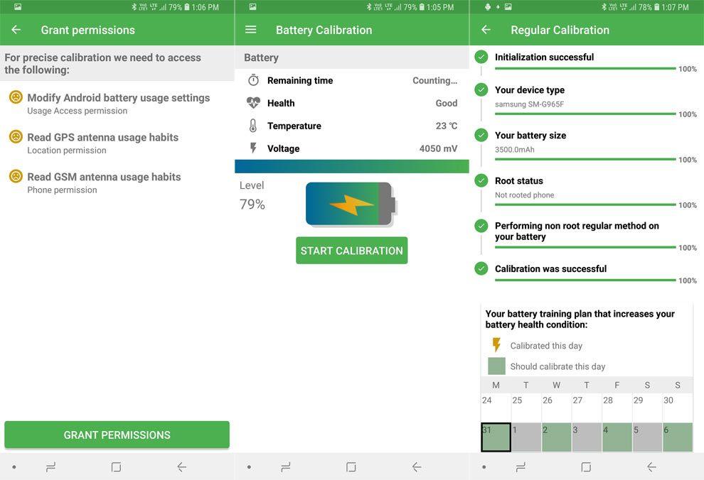 calibración de la batería en android