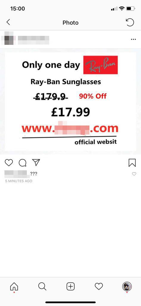 Waspadalah Instagram Posting 90 Off Kacamata Hitam Ray Ban