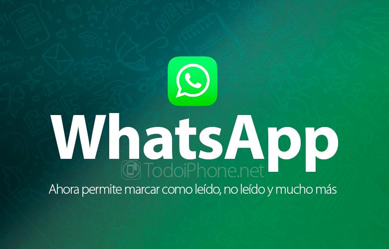 İndi WhatsApp oxunmuş, oxunmamış və daha çox kimi işarələnməyə imkan verir 2
