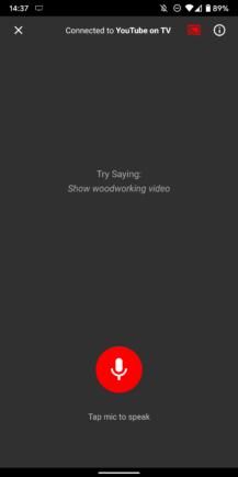"""Cómo controlar completamente YouTube en tu TV desde tu móvil, con búsqueda por voz y gestión de colas 6""""ancho ="""" 217 """"altura ="""" 434"""
