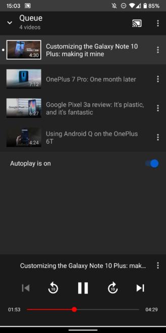 Kuinka hallita täysin YouTube televisiossasi matkapuhelimella äänihaun ja jononhallinnan avulla 11