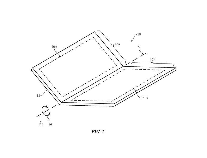 Это изображение ApplePaten для складного телефона.